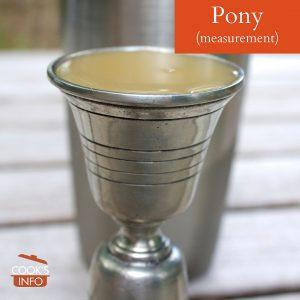 Pony measurement.