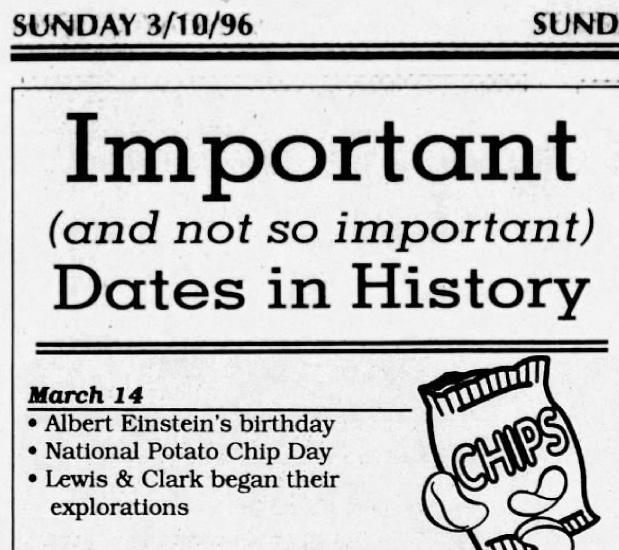 Potato Chip Day 1996