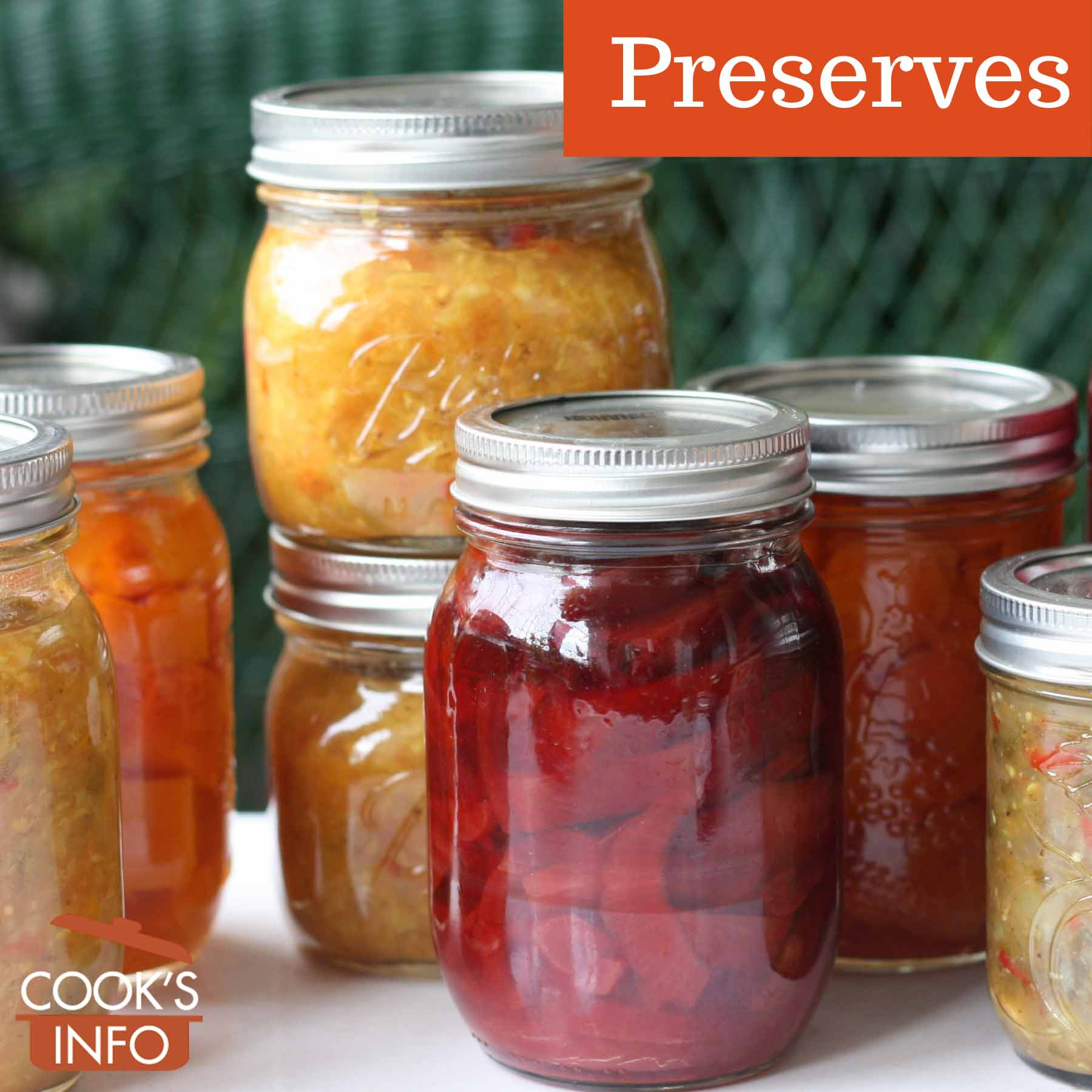 Sealed jars of preserves