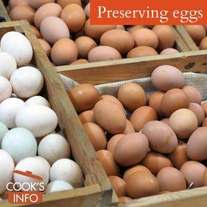 Eggs at market