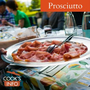 Plate of prosciutto