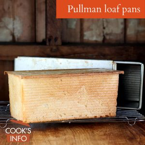 Pullman loaf pan with bread