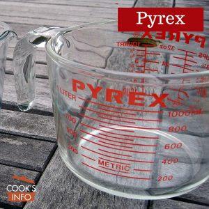Pyrex measuring jugs