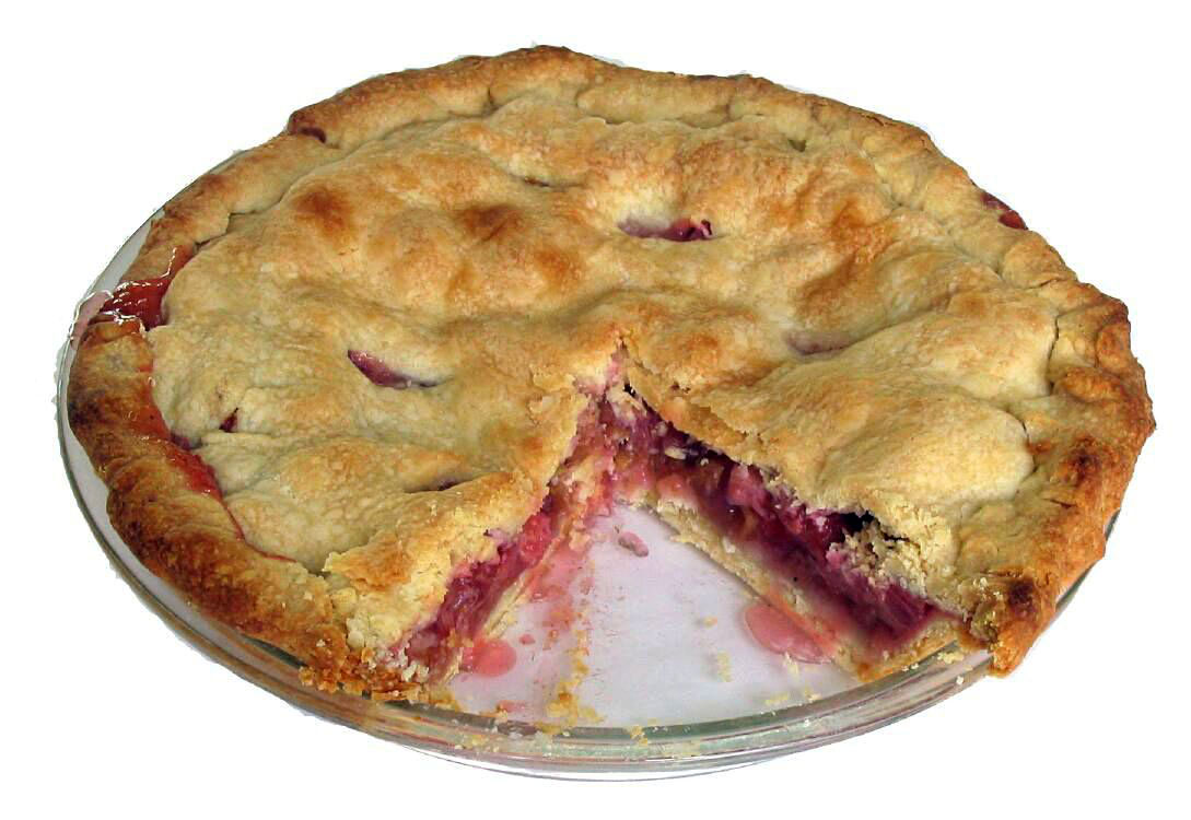 English and American-style rhubarb pie
