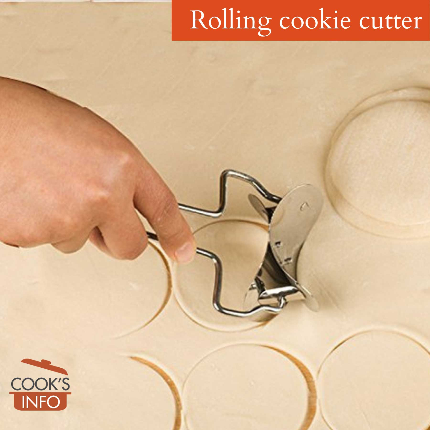 Rolling cookie / dough cutter