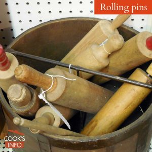 Bucket of rolling pins