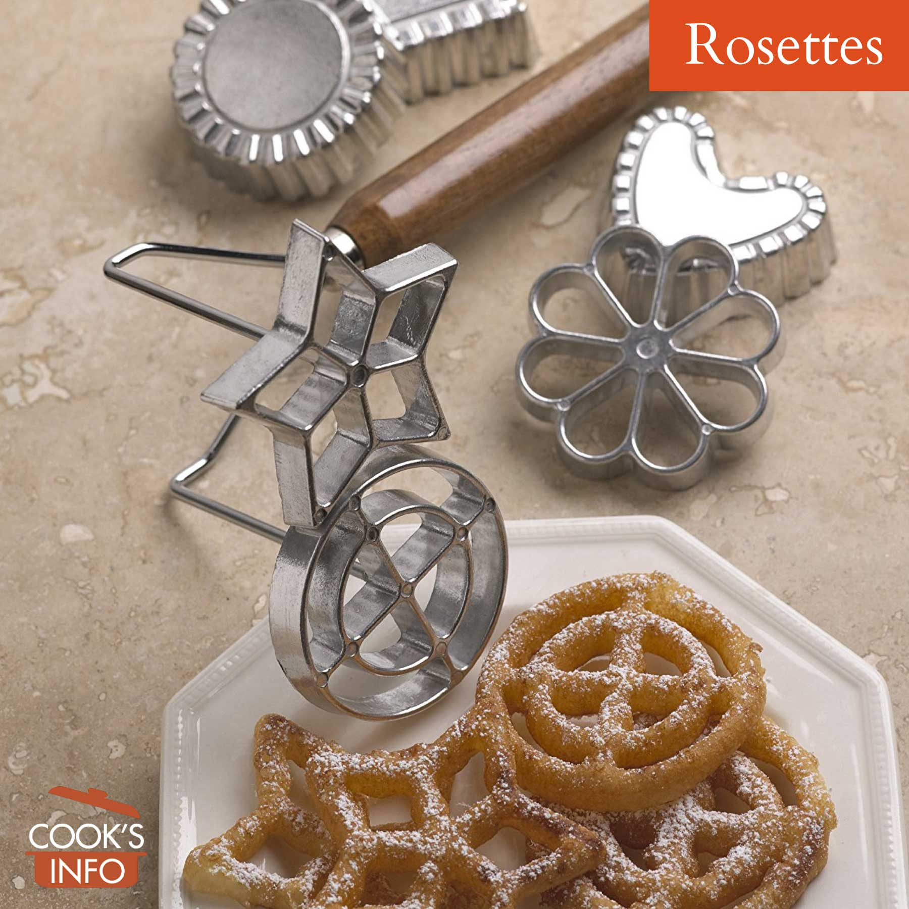 Rosettes with rosette iron