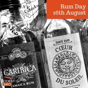 Various types of rum in bottles