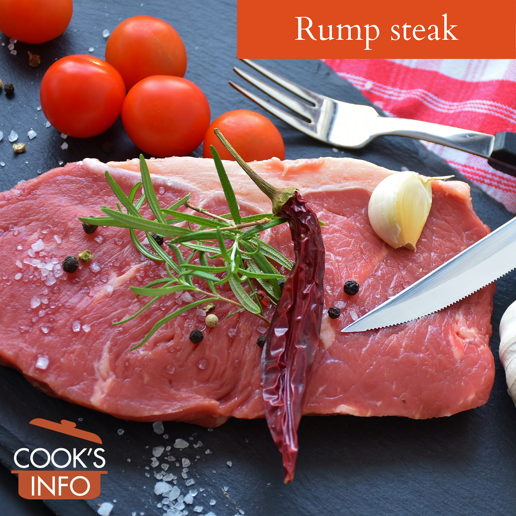 Rump steak.