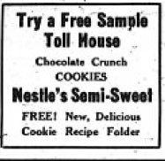 Toll House Cookies 1939