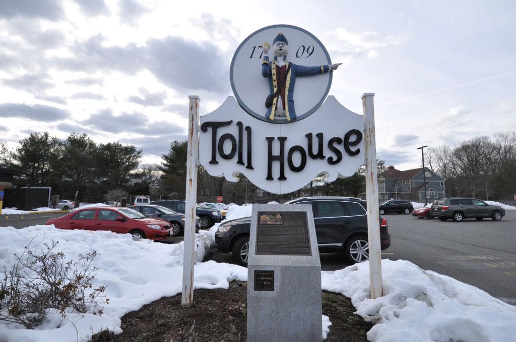 Restored Toll House Inn sign