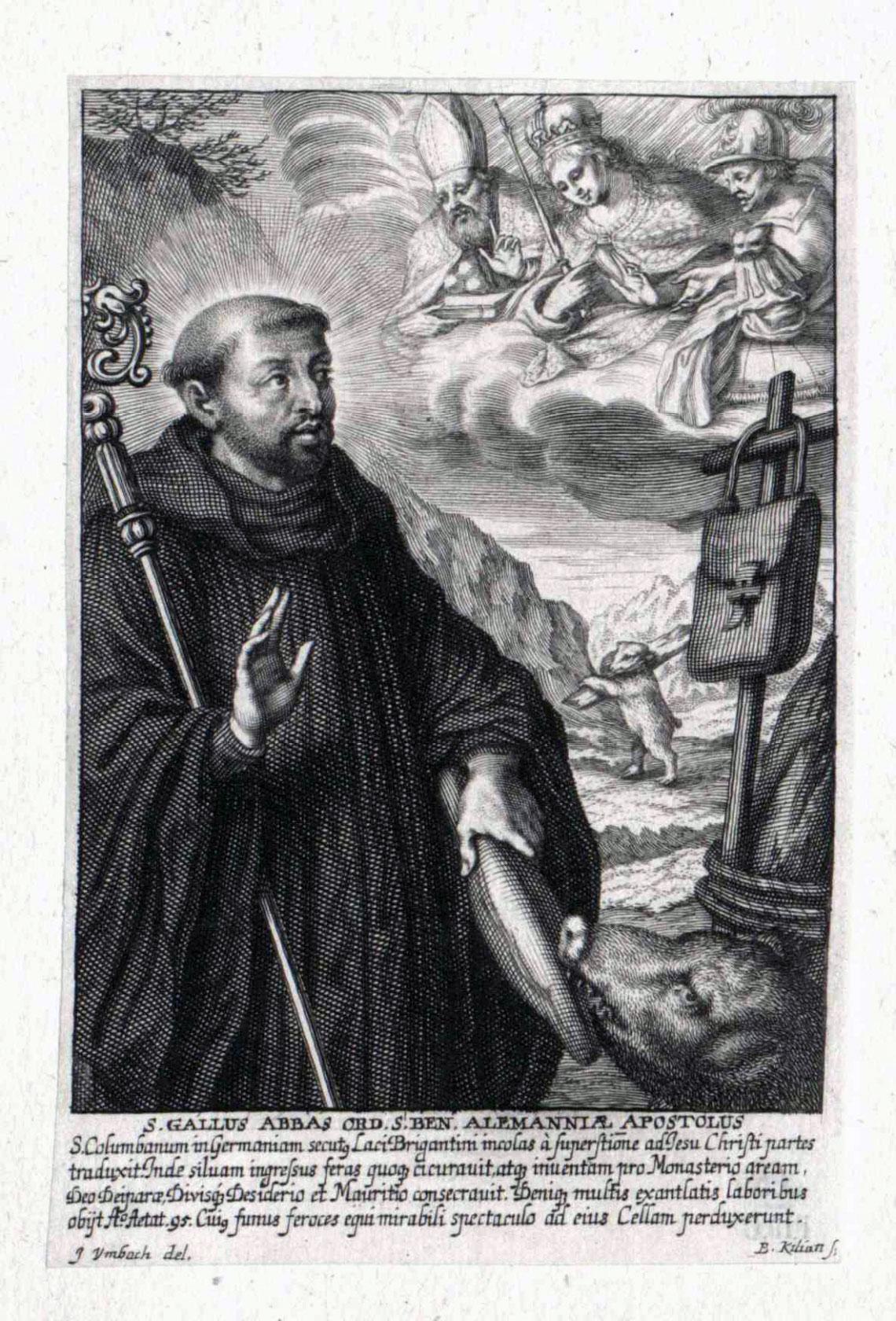 St Gallus, depicted 1700 - 1800.