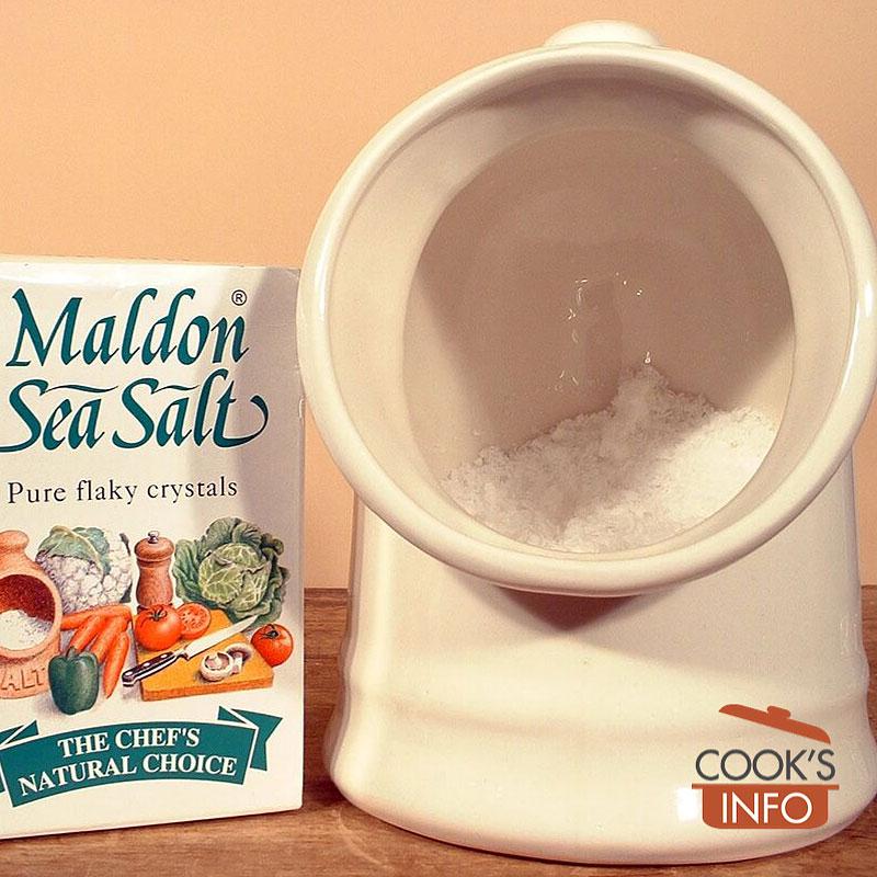 Salt pig with salt