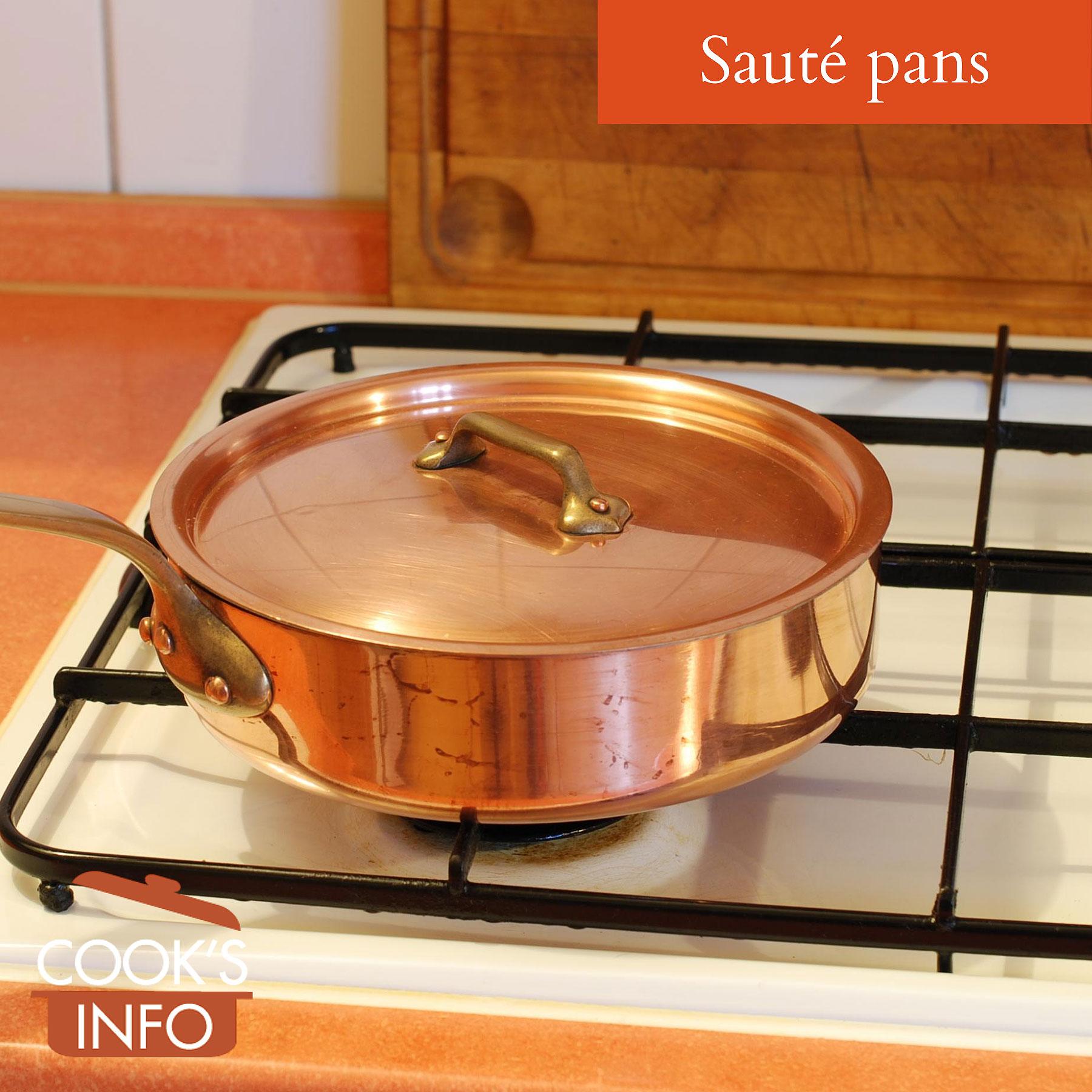Copper sauté pan