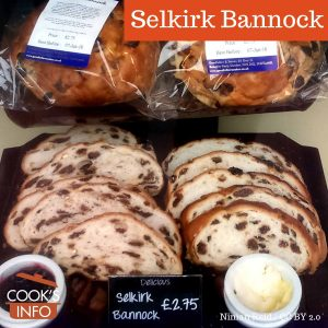 Selkirk bannock slices, Perth, Scotland
