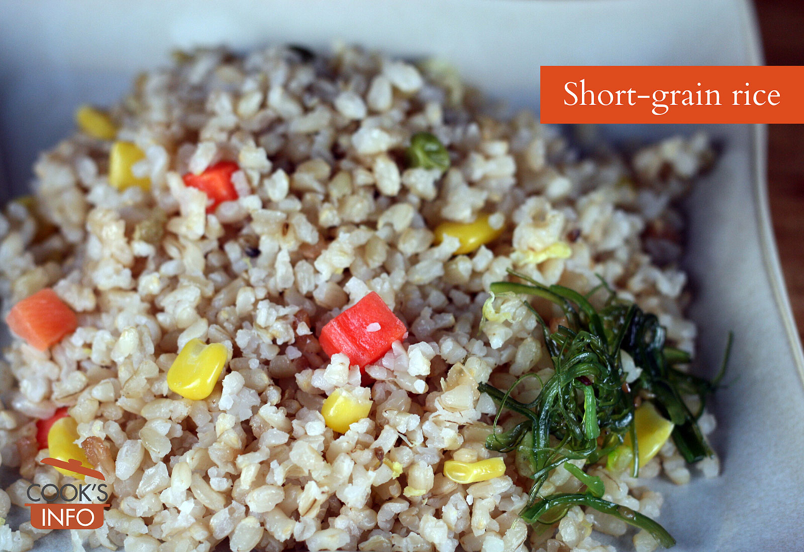 Short-grain rice, cooked