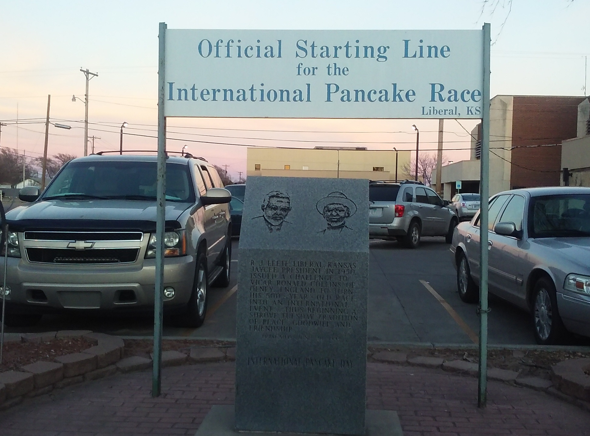 Shrove Tuesday Liberal Pancake Start Line