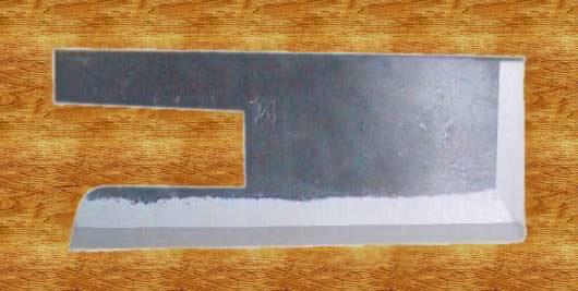 Soba kiri knife in use