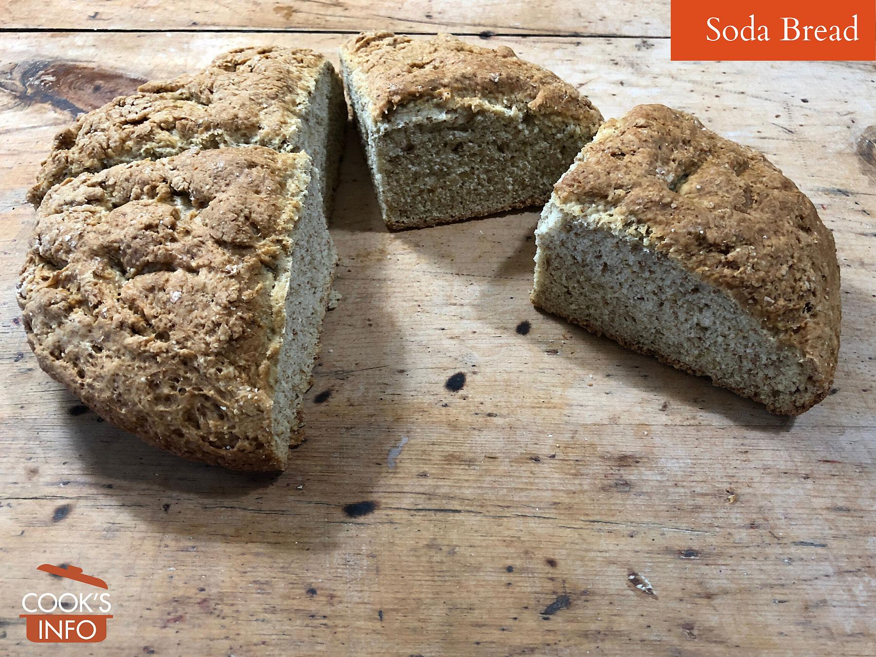 Loaf of soda bread, sliced