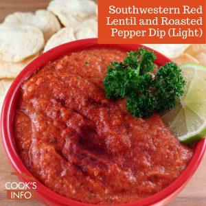Southwestern Red Lentil and Roasted Pepper Dip