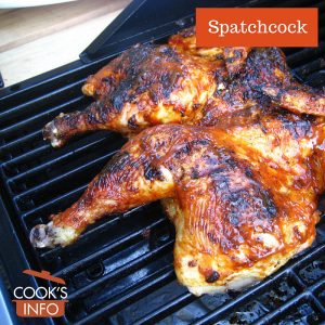 Spatchcocked chicken