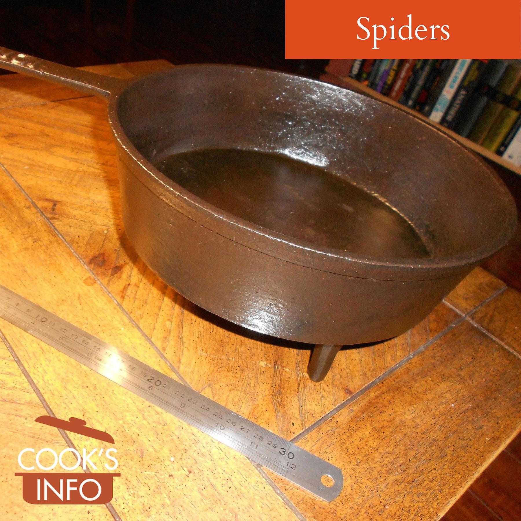 Cast iron spider, made c. 1850