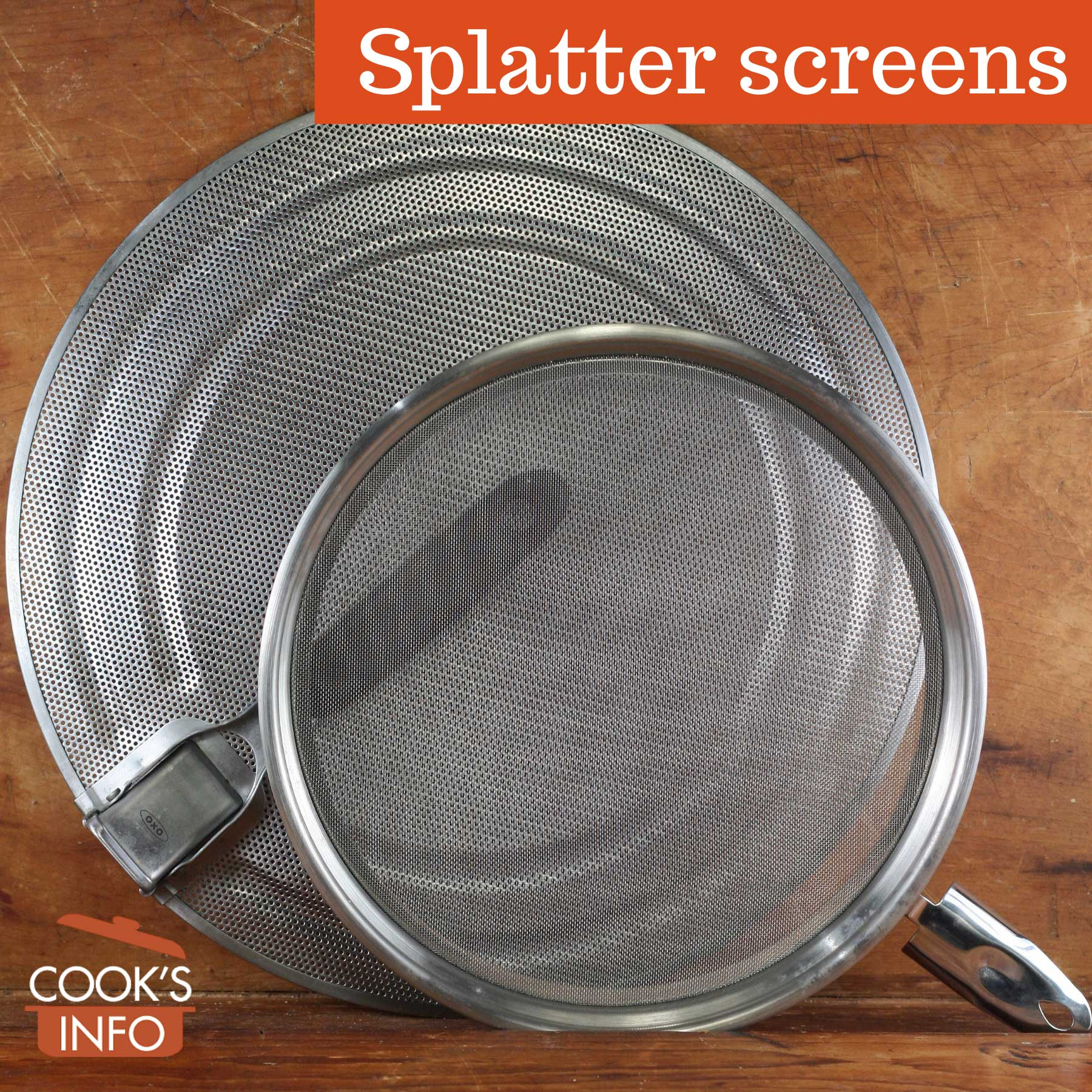 Splatter screens