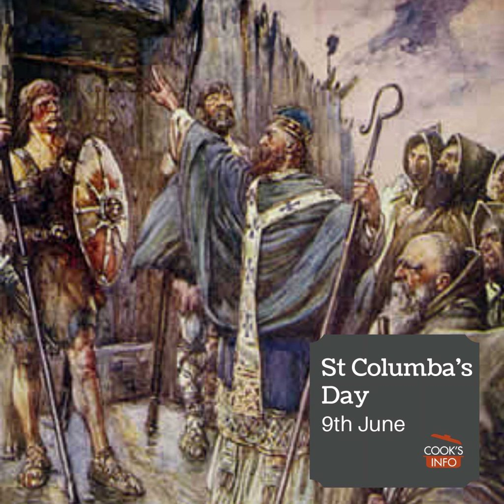 Columba banging on the gate of Bridei