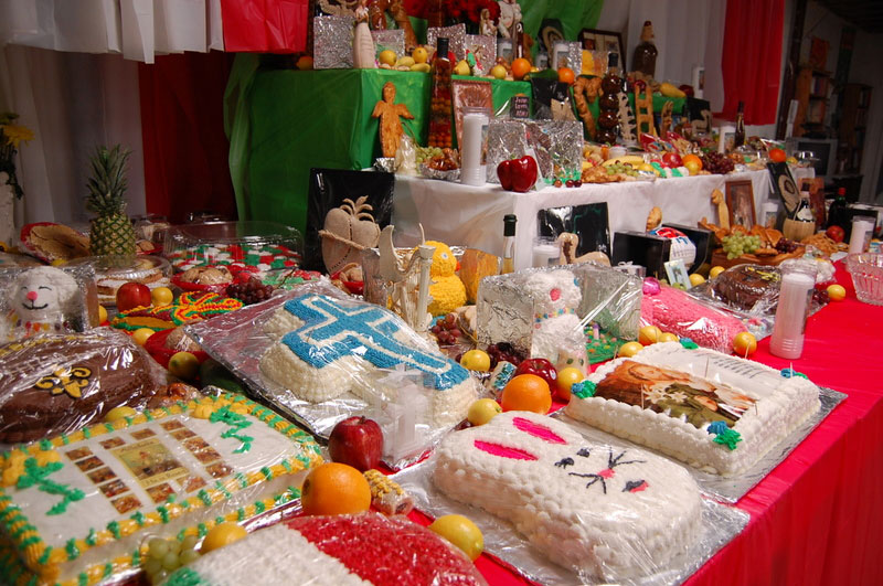 St Joseph's table with cakes