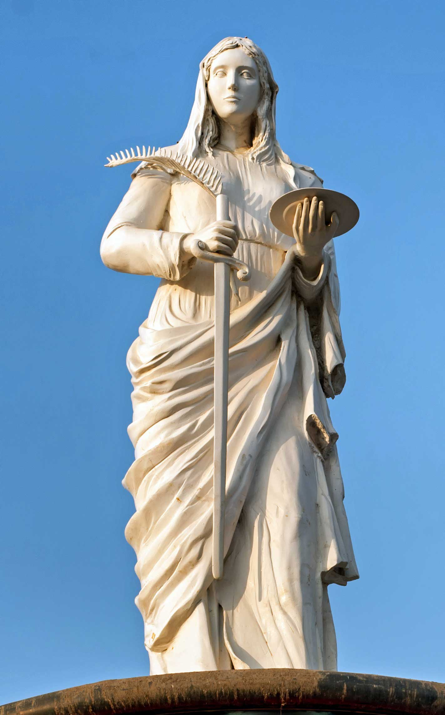 St Lucy Statue