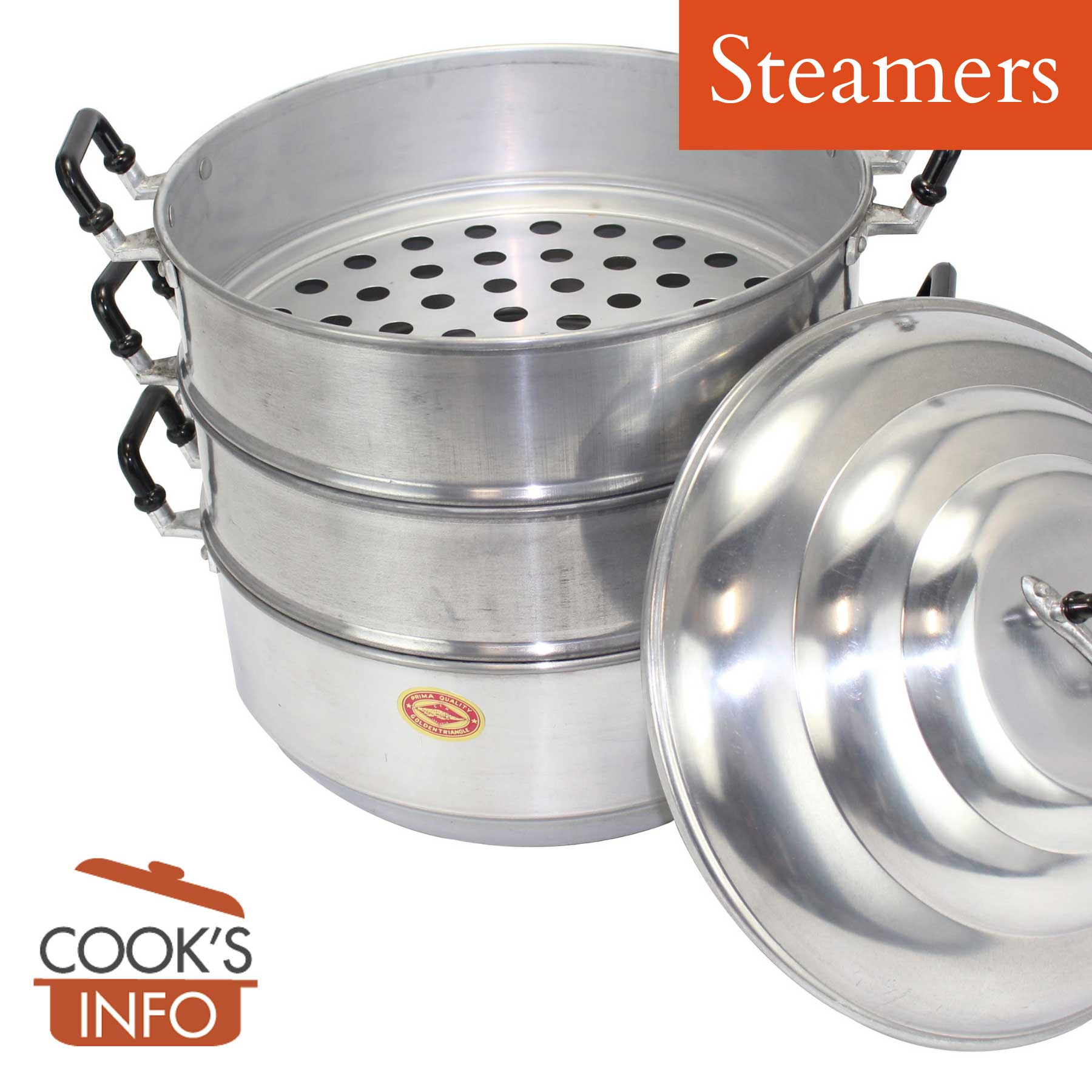 Metal stacking steamer