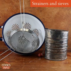 Strainers and Sieves