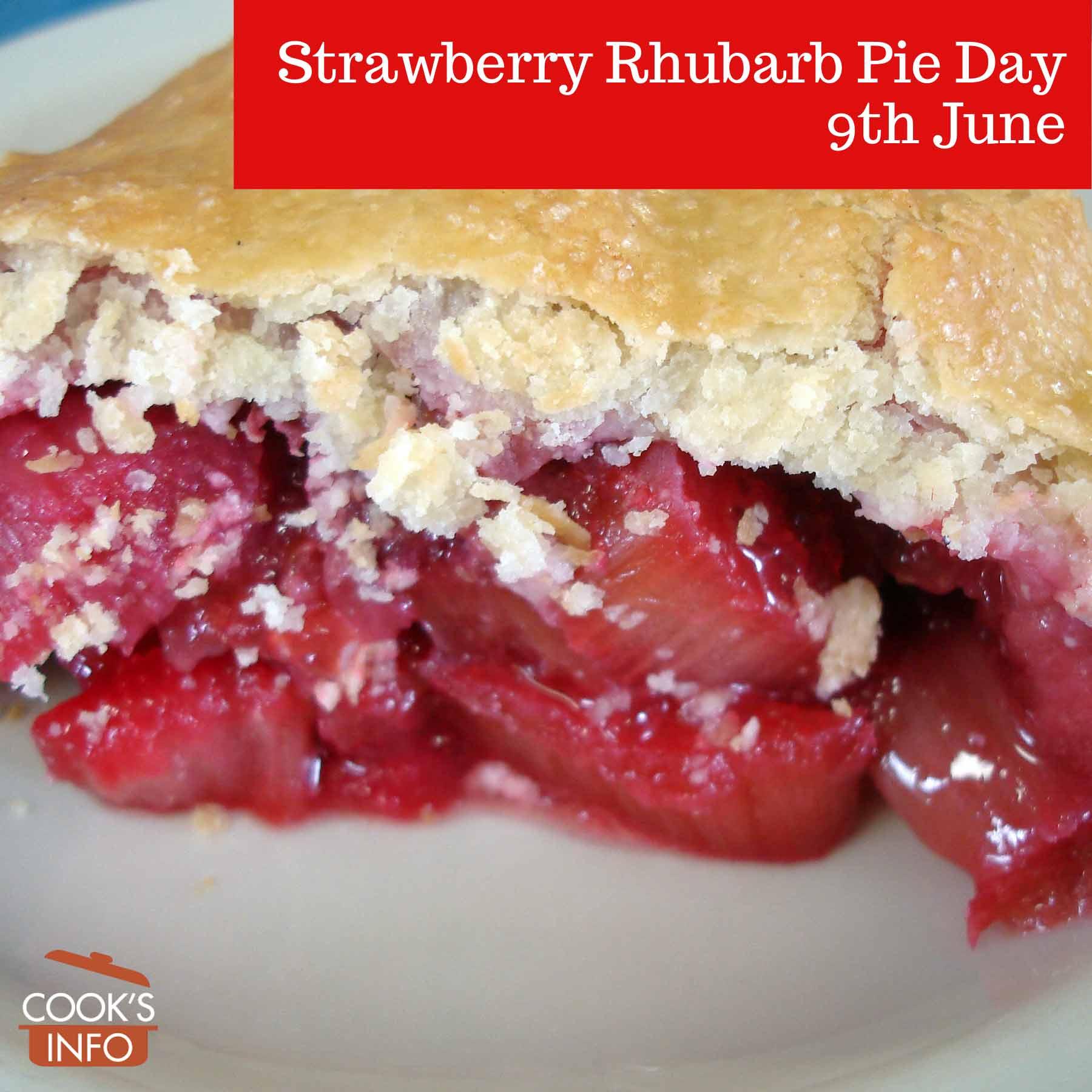 Slice of Strawberry Rhubarb Pie