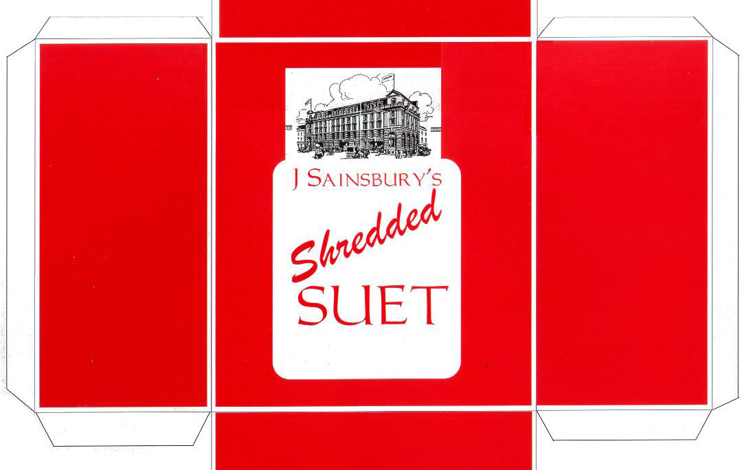 Sainsbury's 1929 suet packaging
