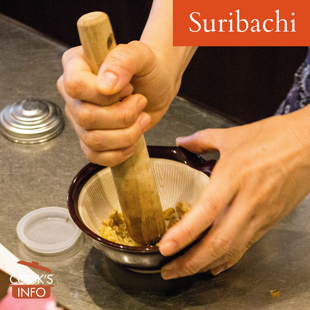 Suribachi in use.