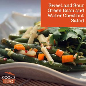 Sweet and Sour Green Bean and Water Chestnut Salad