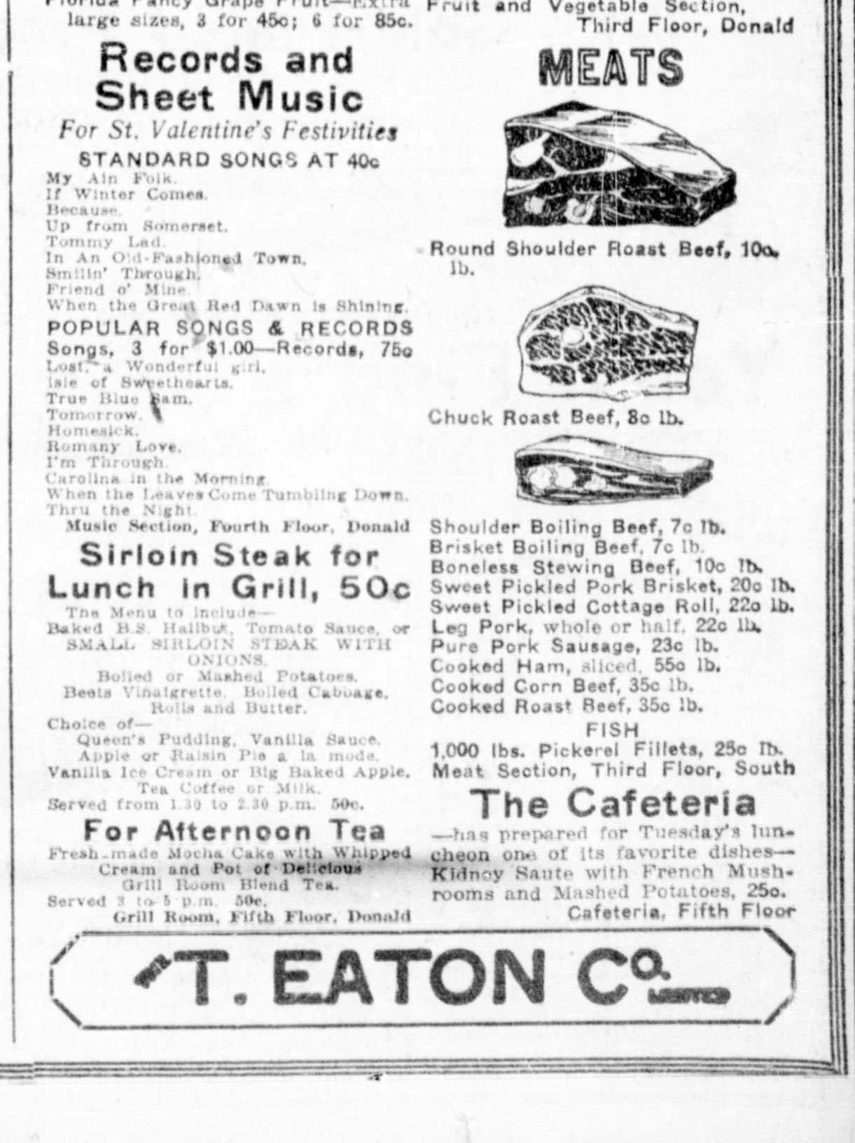 Sweet pickled cottage roll 1923