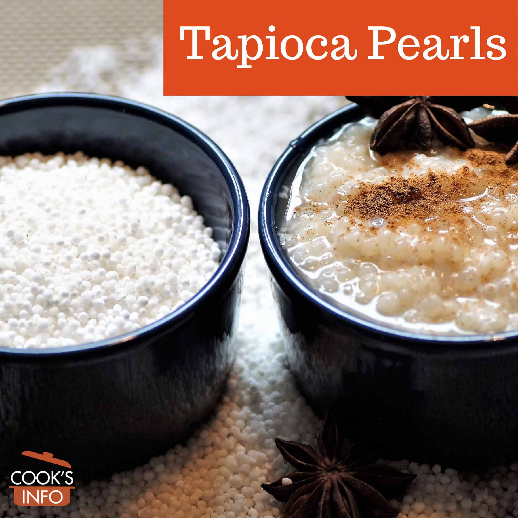 Tapioca pearls and pudding