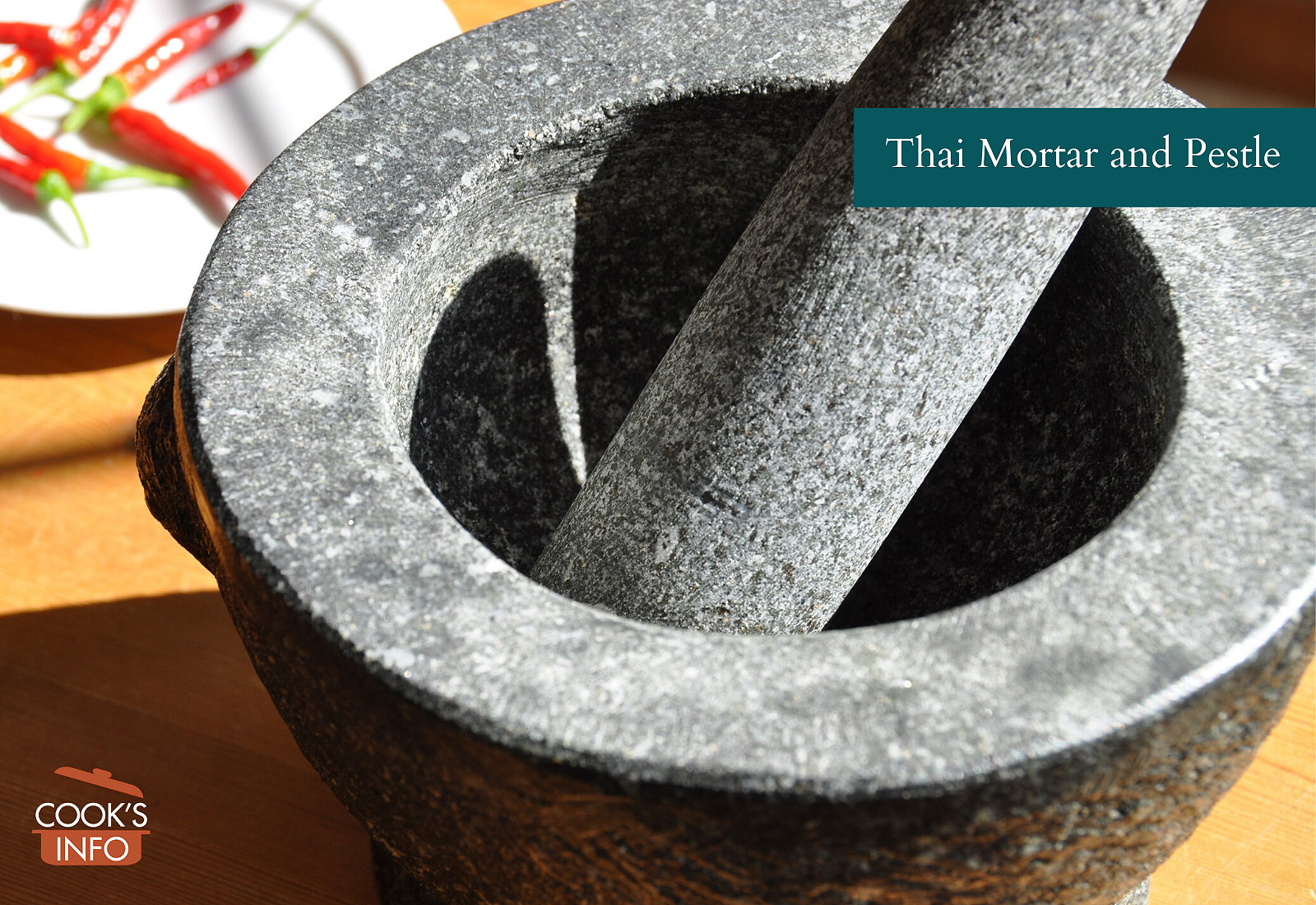 Stone Thai mortar and pestle