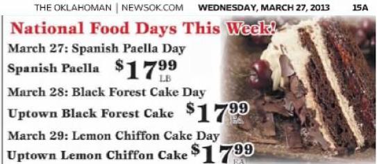 Lemon Chiffon Cake Day 2013