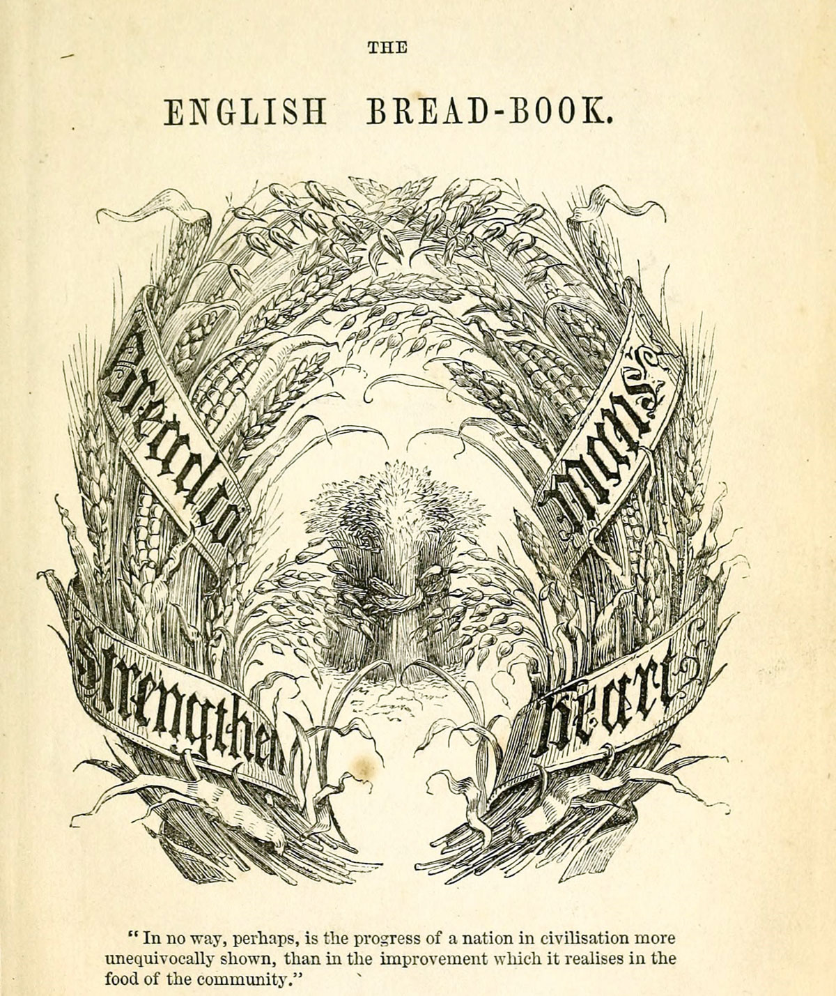 Frontispiece from English bread-book for domestic use, adapted to families of every grade. 1857.
