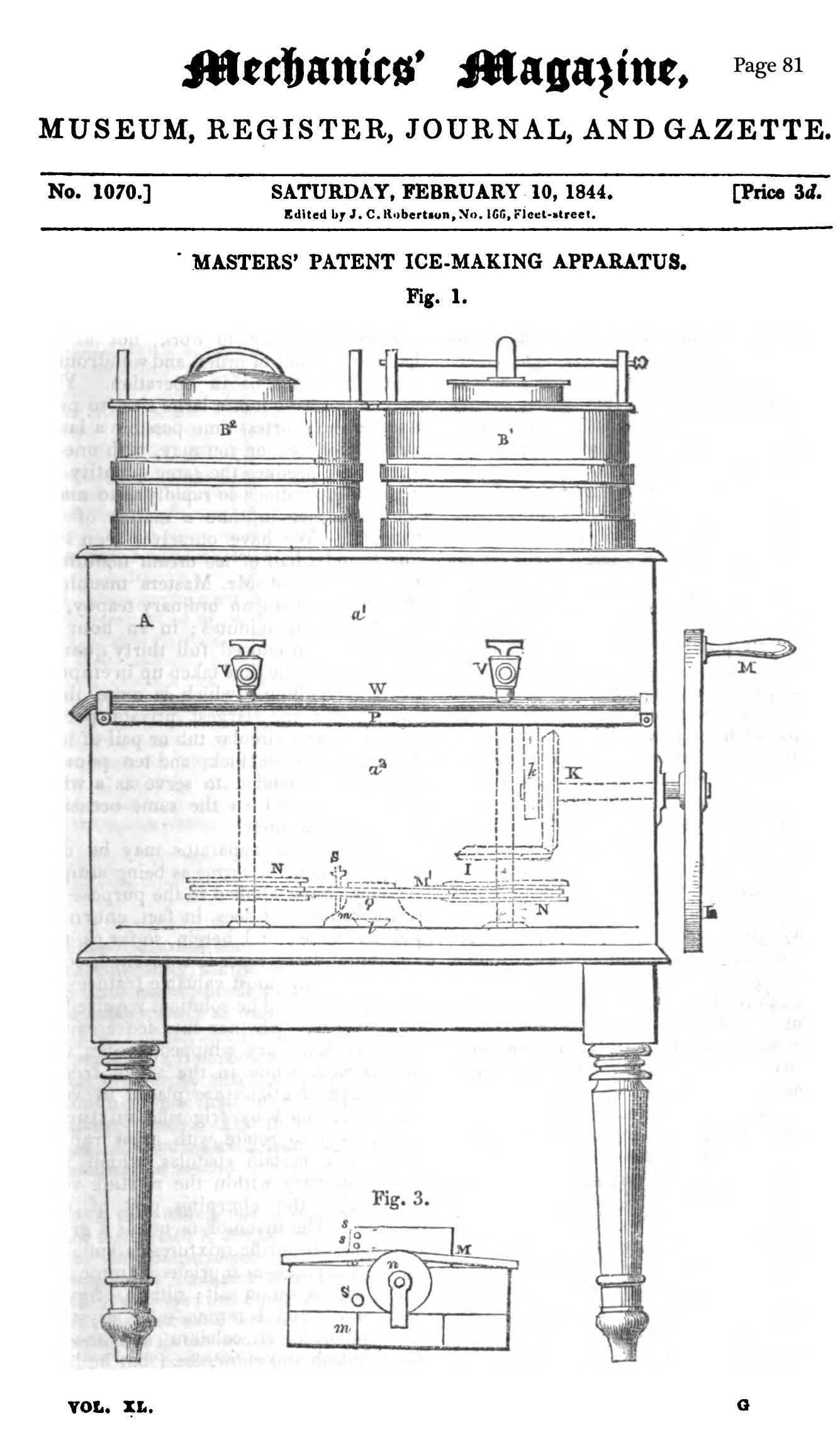 Thomas Masters Ice Cream Patent