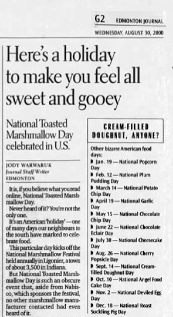 Toasted Marshmallow Day 2000
