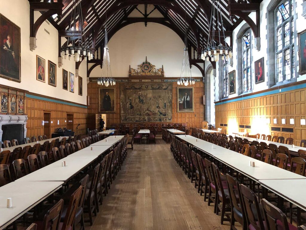 Trinity College Dining Hall.