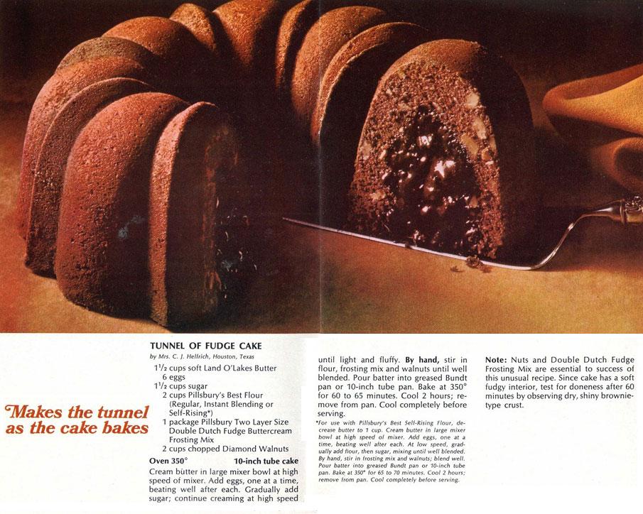 Tunnel of Fudge Cake Magazine Spread