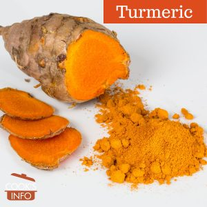Turmeric, fresh and ground