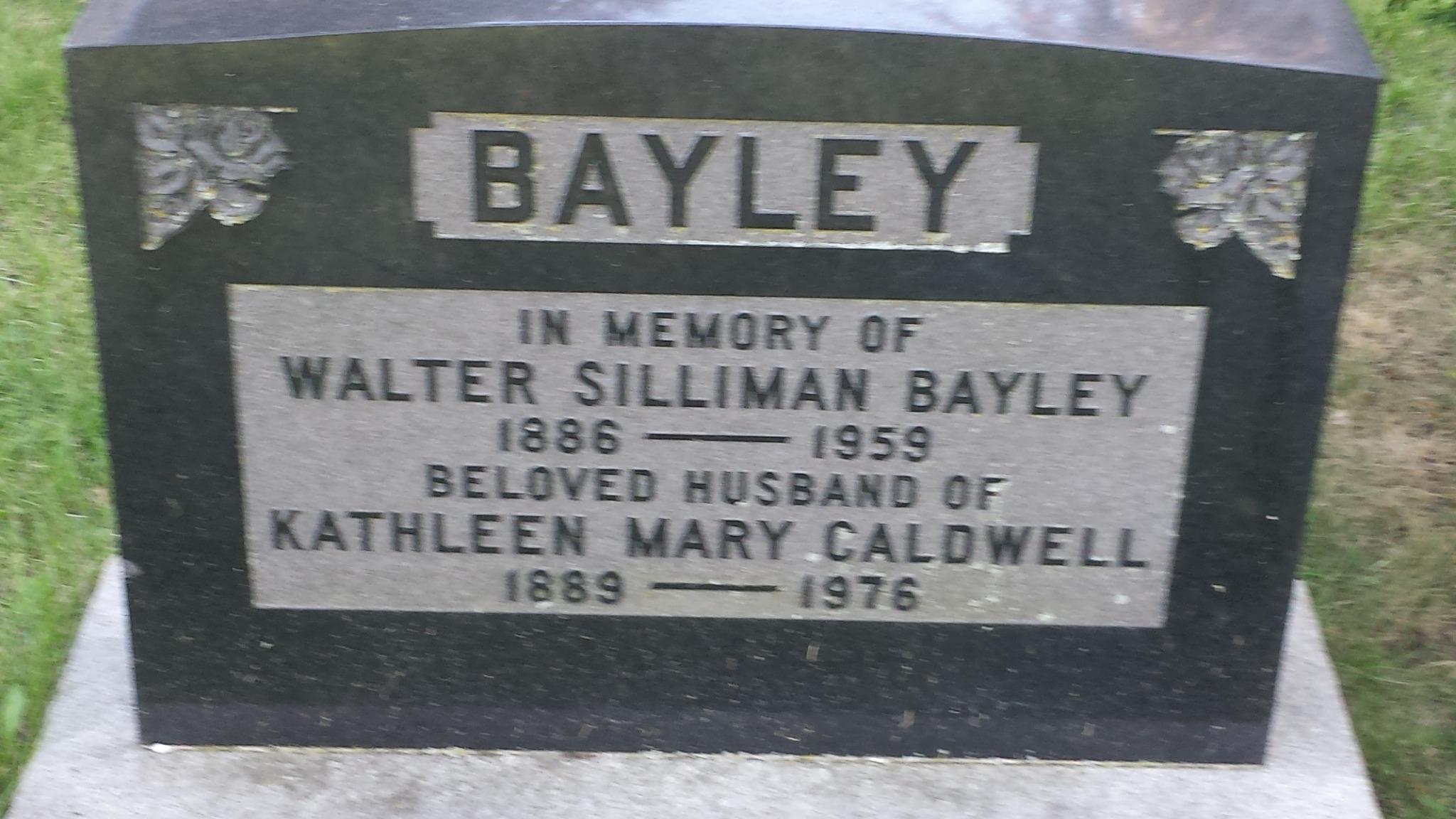 Katherine Caldwell Bayley grave