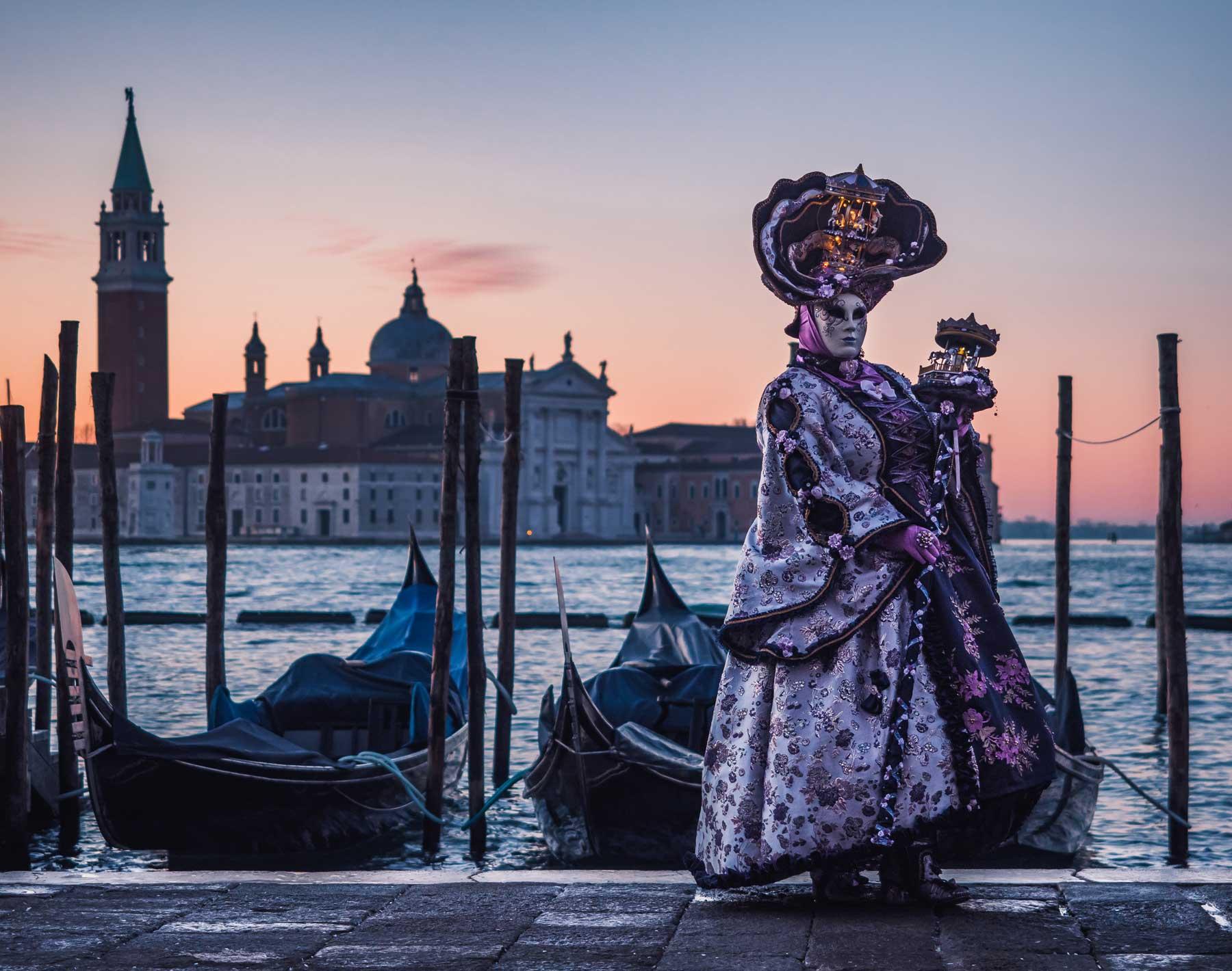 Costumed person in Venice