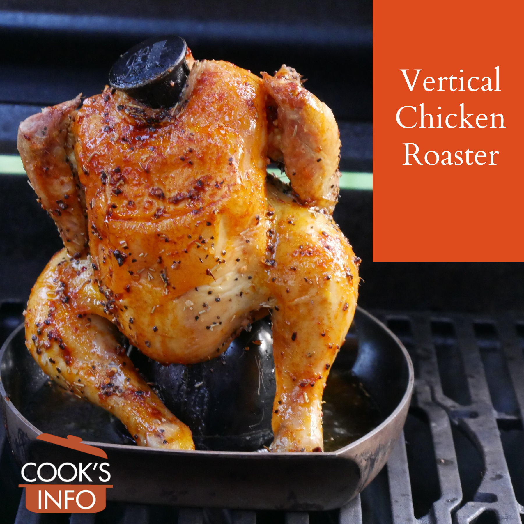 Vertical roasted chicken