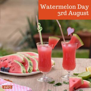 Watermelon slices and drinks